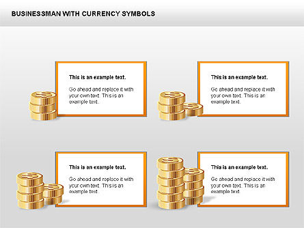 Currency and Businessman Icons, Slide 4, 00453, Icons — PoweredTemplate.com