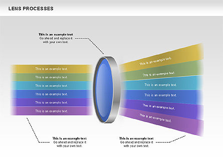 lens process diagrams for powerpoint presentations