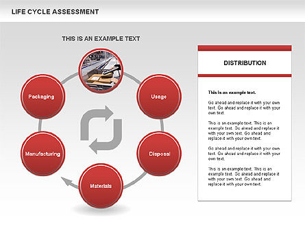 Life Cycle Assessment Diagrams with Photos, Slide 2, 00458, Process Diagrams — PoweredTemplate.com