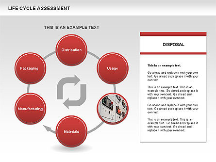 Life Cycle Assessment Diagrams with Photos, Slide 4, 00458, Process Diagrams — PoweredTemplate.com