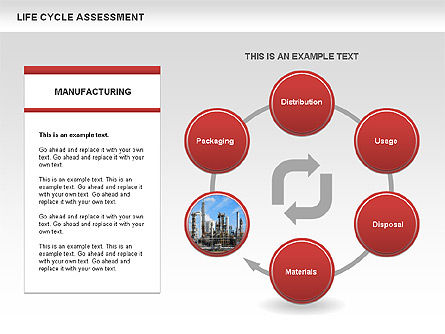 Life Cycle Assessment Diagrams with Photos, Slide 6, 00458, Process Diagrams — PoweredTemplate.com