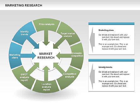 Marketing Research Process Diagrams, Slide 2, 00459, Business Models — PoweredTemplate.com