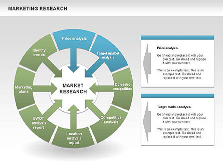Marketing Research Process Diagrams, Slide 3, 00459, Business Models — PoweredTemplate.com