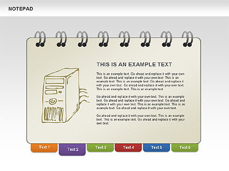 Notepad with Sketches Shapes and Diagrams, Slide 2, 00462, Shapes — PoweredTemplate.com