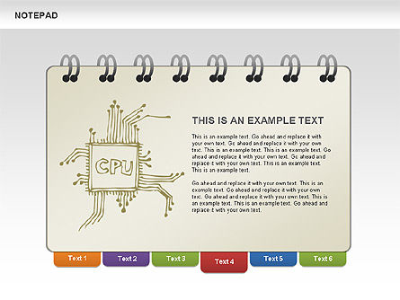 Notepad with Sketches Shapes and Diagrams, Slide 4, 00462, Shapes — PoweredTemplate.com