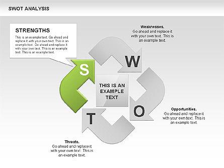 SWOT Analysis Process Diagram, Slide 2, 00465, Business Models — PoweredTemplate.com