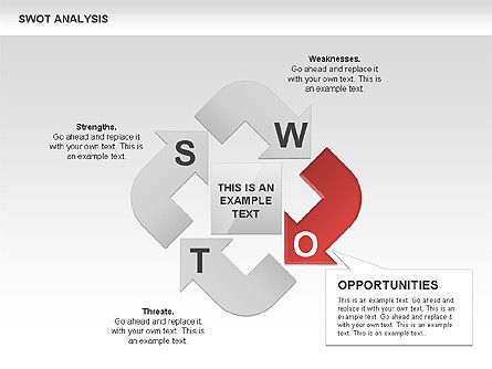 SWOT Analysis Process Diagram, Slide 4, 00465, Business Models — PoweredTemplate.com