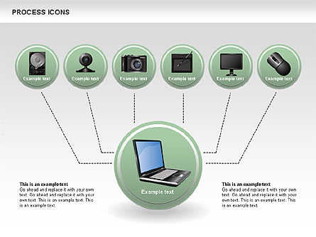 Process Icons Collection, Slide 10, 00467, Process Diagrams — PoweredTemplate.com