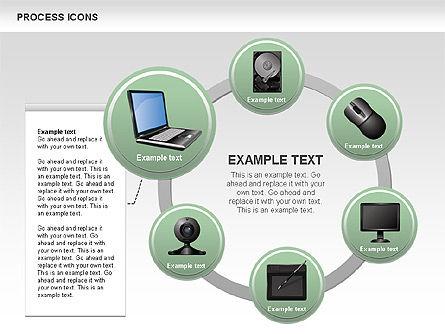 Process Icons Collection, Slide 11, 00467, Process Diagrams — PoweredTemplate.com