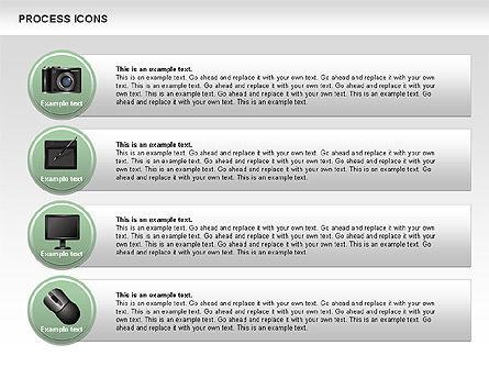 Process Icons Collection, Slide 12, 00467, Process Diagrams — PoweredTemplate.com