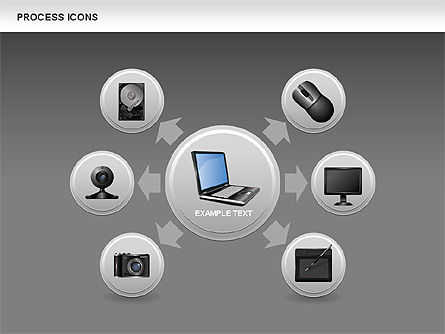 Process Icons Collection, Slide 13, 00467, Process Diagrams — PoweredTemplate.com