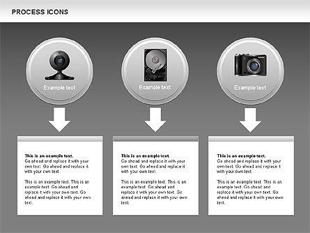Process Icons Collection, Slide 14, 00467, Process Diagrams — PoweredTemplate.com