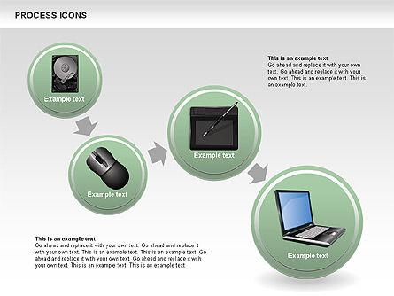 Process Icons Collection, Slide 5, 00467, Process Diagrams — PoweredTemplate.com
