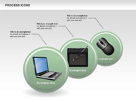 Process Icons Collection, Slide 6, 00467, Process Diagrams — PoweredTemplate.com