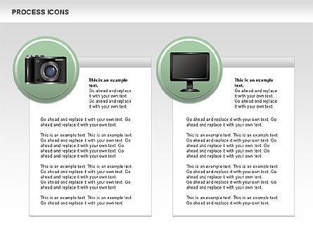 Process Icons Collection, Slide 7, 00467, Process Diagrams — PoweredTemplate.com
