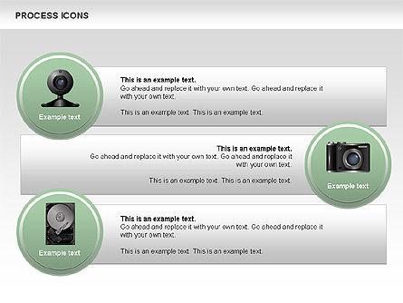 Process Icons Collection, Slide 8, 00467, Process Diagrams — PoweredTemplate.com