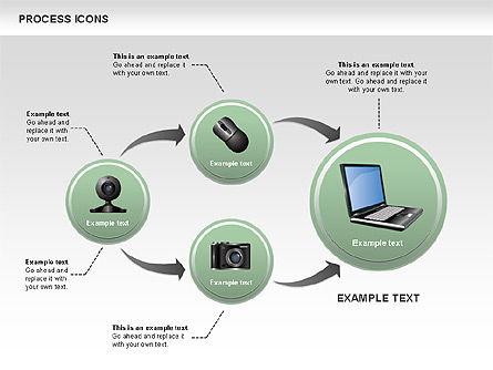 Process Icons Collection, Slide 9, 00467, Process Diagrams — PoweredTemplate.com