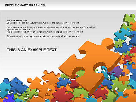Puzzle Shapes and Diagrams, Slide 2, 00469, Puzzle Diagrams — PoweredTemplate.com