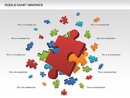 Puzzle Shapes and Diagrams, Slide 3, 00469, Puzzle Diagrams — PoweredTemplate.com