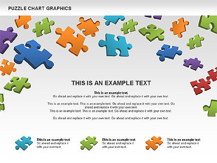 Puzzle Shapes and Diagrams, Slide 4, 00469, Puzzle Diagrams — PoweredTemplate.com