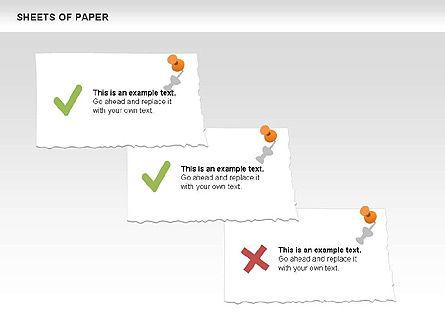 Sheets of Paper Shapes, Slide 10, 00472, Shapes — PoweredTemplate.com