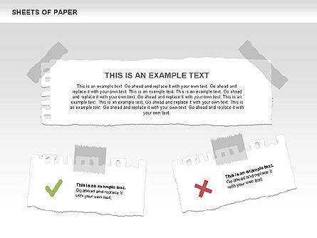 Sheets of Paper Shapes, Slide 11, 00472, Shapes — PoweredTemplate.com