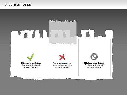 Sheets of Paper Shapes, Slide 13, 00472, Shapes — PoweredTemplate.com