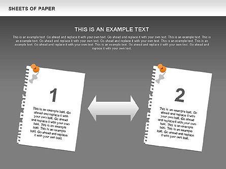 Sheets of Paper Shapes, Slide 15, 00472, Shapes — PoweredTemplate.com