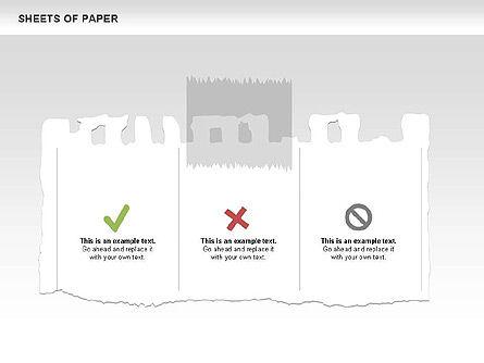 Sheets of Paper Shapes, Slide 5, 00472, Shapes — PoweredTemplate.com