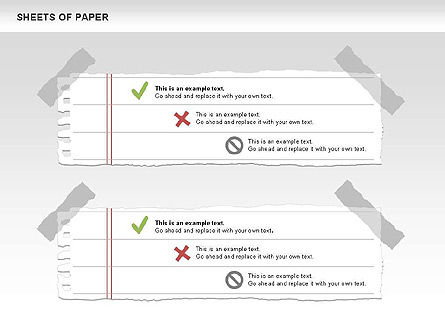 Sheets of Paper Shapes, Slide 6, 00472, Shapes — PoweredTemplate.com