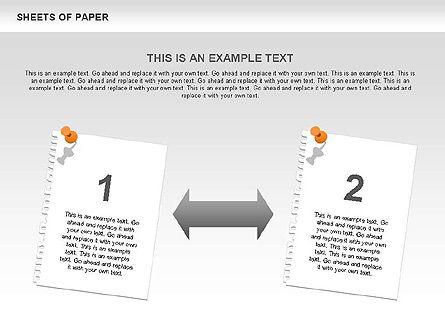 Sheets of Paper Shapes, Slide 8, 00472, Shapes — PoweredTemplate.com