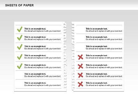 Sheets of Paper Shapes, Slide 9, 00472, Shapes — PoweredTemplate.com