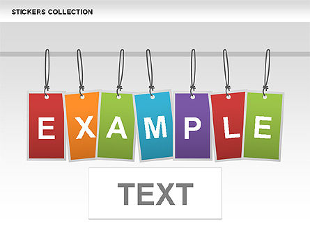Stickers Collection, Slide 2, 00474, Shapes — PoweredTemplate.com