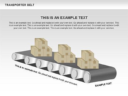 Transporter Belt, Slide 10, 00476, Process Diagrams — PoweredTemplate.com