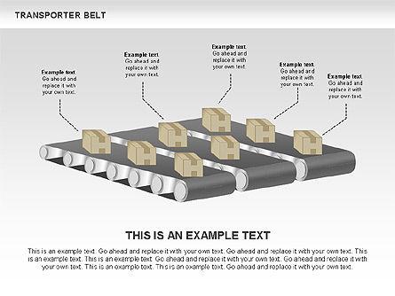 Transporter Belt, Slide 12, 00476, Process Diagrams — PoweredTemplate.com