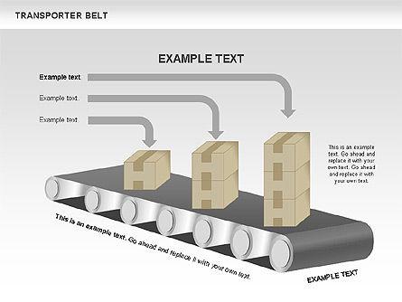 Transporter Belt, Slide 2, 00476, Process Diagrams — PoweredTemplate.com