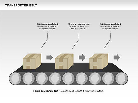 Transporter Belt, Slide 3, 00476, Process Diagrams — PoweredTemplate.com