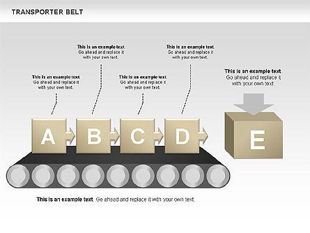 Transporter Belt, Slide 4, 00476, Process Diagrams — PoweredTemplate.com
