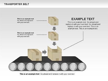 Transporter Belt, Slide 6, 00476, Process Diagrams — PoweredTemplate.com