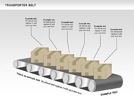 Transporter Belt, Slide 7, 00476, Process Diagrams — PoweredTemplate.com