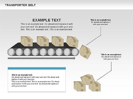 Transporter Belt, Slide 8, 00476, Process Diagrams — PoweredTemplate.com