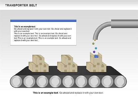 Transporter Belt, Slide 9, 00476, Process Diagrams — PoweredTemplate.com