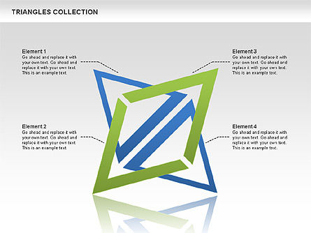 Triangles Collection, 00478, Shapes — PoweredTemplate.com