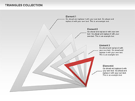 Triangles Collection, Slide 3, 00478, Shapes — PoweredTemplate.com