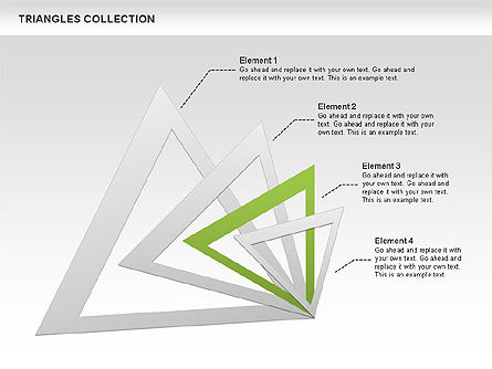 Triangles Collection, Slide 4, 00478, Shapes — PoweredTemplate.com