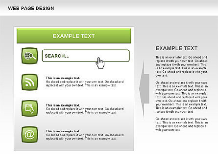 Web Page Design Diagrams, Slide 3, 00480, Process Diagrams — PoweredTemplate.com
