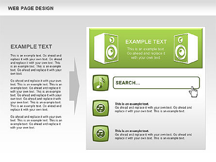 Web Page Design Diagrams, Slide 4, 00480, Process Diagrams — PoweredTemplate.com