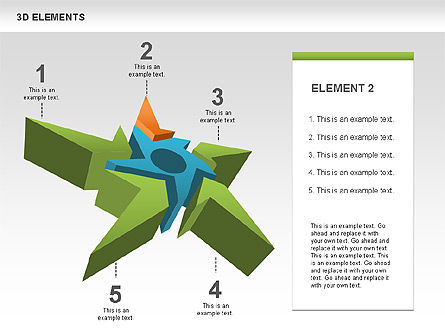 Free 3D Shapes with Stars, Slide 2, 00481, Shapes — PoweredTemplate.com