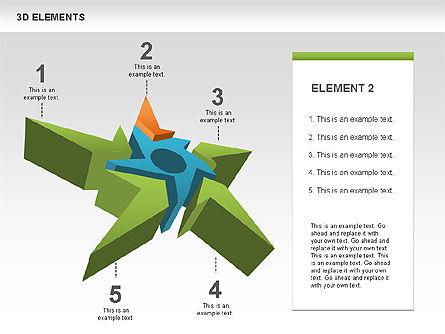 Free 3D Shapes with Stars, Slide 2, 00481, Shapes — PoweredTemplate.com