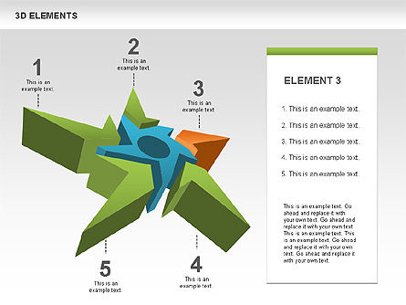 Free 3D Shapes with Stars, Slide 3, 00481, Shapes — PoweredTemplate.com